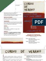 Diptico Curso Verano Arquitectura URJC