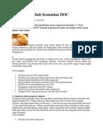 Faktor Penyebab Kematian DOC