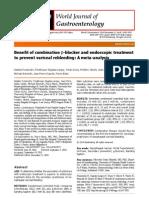 Benefit of combination β-blocker and endoscopic treatment