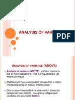 52934867 Analysis of Variance