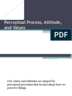 Perceptual Process, Attitude, And Values