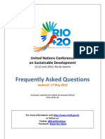 Rio20 FAQ