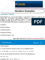 Real Numbers Examples