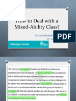 How to Deal With a Mixed-Ability Class