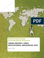 Trend Report Open Educational Resources 2012 - SURF - English