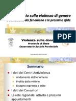 La violenza contro le donne in provincia di Siena - Report 2011