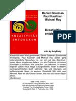 8542696 Daniel Goleman Paul Kaufman Michael Ray Kreativitat Entdecken 1997