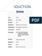 Amway Presentation - Srishti Jain