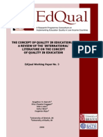 Concept of Quality Education