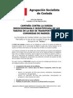CAMPAÑA CONTRA LA SUBIDA INDISCRIMINADA E INJUSTIFICADA DE LAS TARIFAS EN LA RED DE TRANSPORTES DE LA COMUNIDAD DE MADRID.
