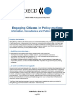 OECD Engaging Citizens in Policy-Making July 2001