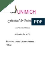 APLICACIÓN DE M.T.A DISCO