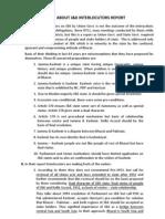 About J&K Interlocutors Report (Arunji)
