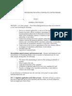 Interim Rules of Procedure for Intra-corporate Controversies
