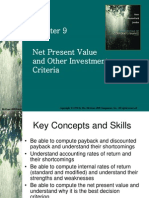 NPV & Other Criteria