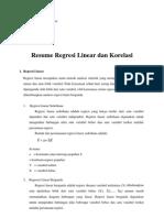 Resume Regresi Linear Dan Korelasi