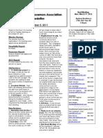 2011 Dec 5 Newsletter