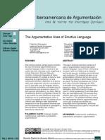 Argumentative Uses of Emotive Language