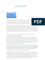 A morte do planejamento estratégico