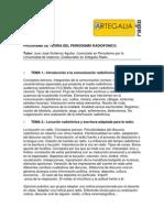 002 Temario de Teoria Del Periodismo Radiofonico