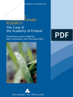 8_05 Promoting Interdisciplinary Research_ the Case of the Academy of Finland