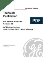 GE Vivid 7 - Service Manual