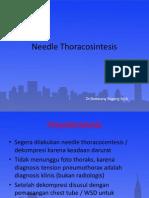Teori Needle Thoracosintesis