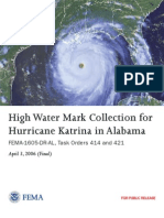 FEMA - High Water Mark Collection for Hurricane Katrina in Alabama