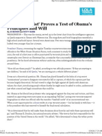 Obama's Secret 'Kill List', what principle