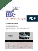 VOLVO Reset Service Light