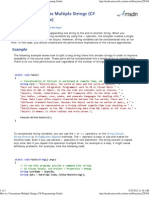 Concatenate Multiple Strings (C# Programming Guide)