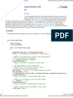 Modify String Contents (C# Programming Guide)