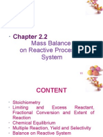 Mass Balance Reactive Systems