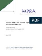 1998-2008 Kosovo Human Rights