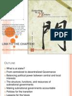 Decentralization, Rethinking Government