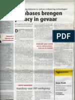 Databases Brengen Privacy in Gevaar - Automatisering Gids - 19 Oktober 2007