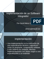 Implementación de un software integrador