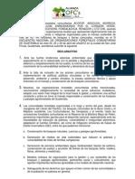 Declaracion Alianza III Encuentro