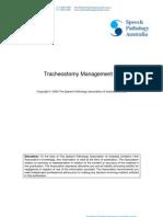 Tracheostomy Management