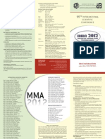 MMA 2012_First Information and Call for Papers