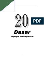 20 Dasar Islam Ringkas