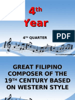 4th Year-Lesson 1 - The Great Filipino Composers