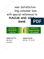 1Customer Satisfaction Regarding Consumer Loan With Special Reference to PUNJAB and SIND BANK (1)