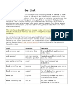List Phrasal Verbs
