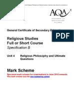 Yr. 11 Mark Scheme