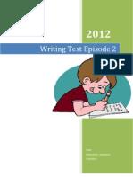 Writing Test Episode 2/2012