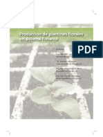 Producción de plantines florales en sistema flotante