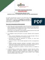Convocatoria Becas Educativas-2012-2013 Centros de Dia