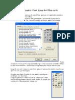Uso Del Control Chart Space de Office en Vb