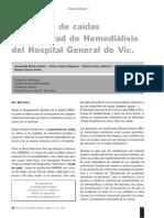 19 incidencia de caídas UNIDAD DE HEMODIÁLISIS